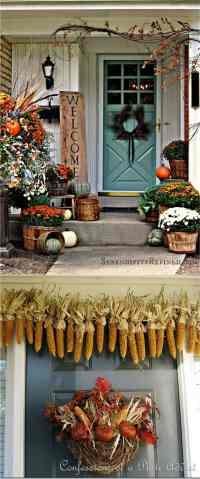 25 Splendid DIY Fall Outdoor Decorations - A Piece Of Rainbow