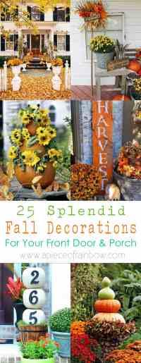 25 Splendid Front Door DIY Fall Decorations - A Piece Of ...