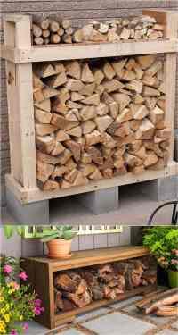15 Amazing Firewood Rack & Best Storage Ideas! - A Piece ...