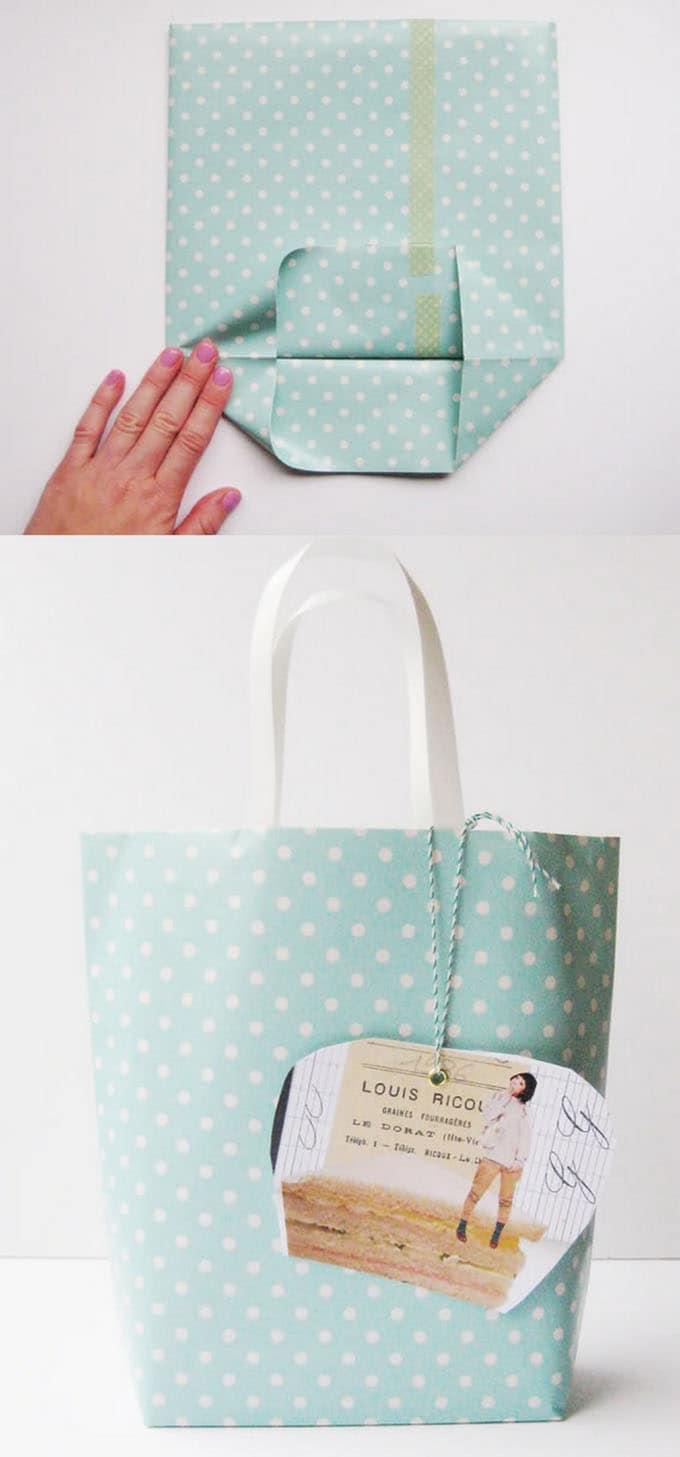 16 gift wrapping hacks apieceofrainbow 1 - 16 Favorite Easy Gift Wrapping Ideas (Many are Free!)