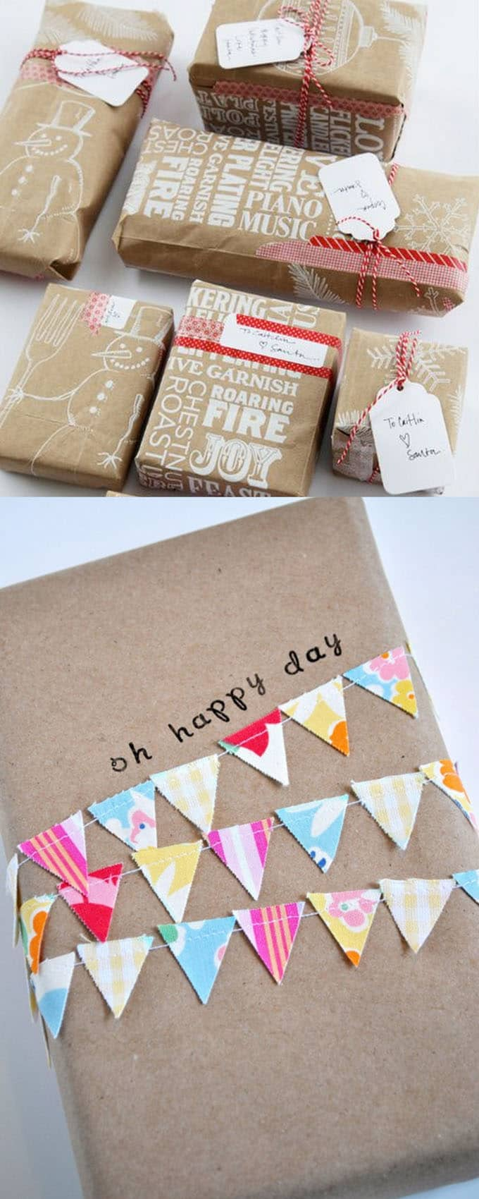 16 gift wrapping hacks apieceofrainbow 8 - 16 Favorite Easy Gift Wrapping Ideas (Many are Free!)