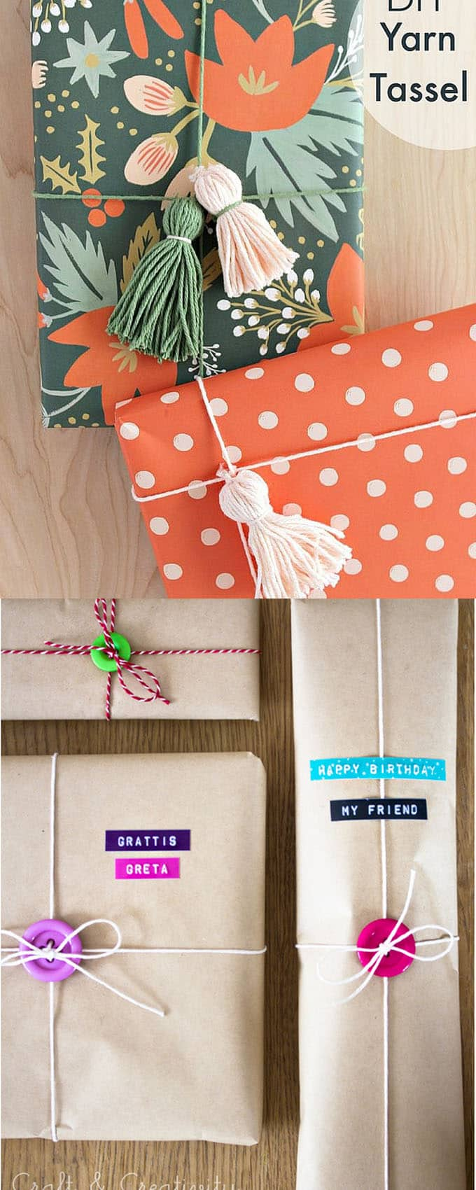 16 gift wrapping hacks apieceofrainbow 9 - 16 Favorite Easy Gift Wrapping Ideas (Many are Free!)