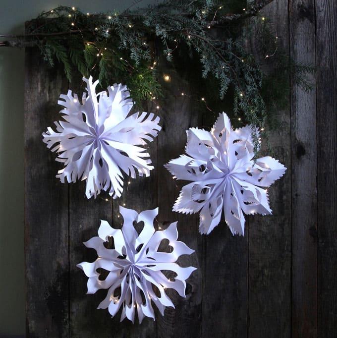 paper bag snowflake pendants apieceofrainbowblog 14 - 42 Gorgeous Christmas Tree Decorating Ideas { & Best Tutorials!}