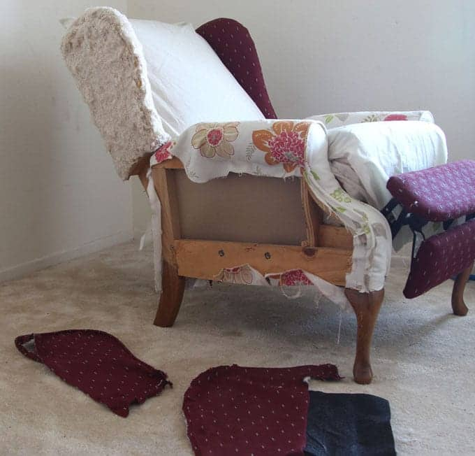 how to slipcover a chair adirondack with ottoman fabric makeover before after - page 2 of piece rainbow