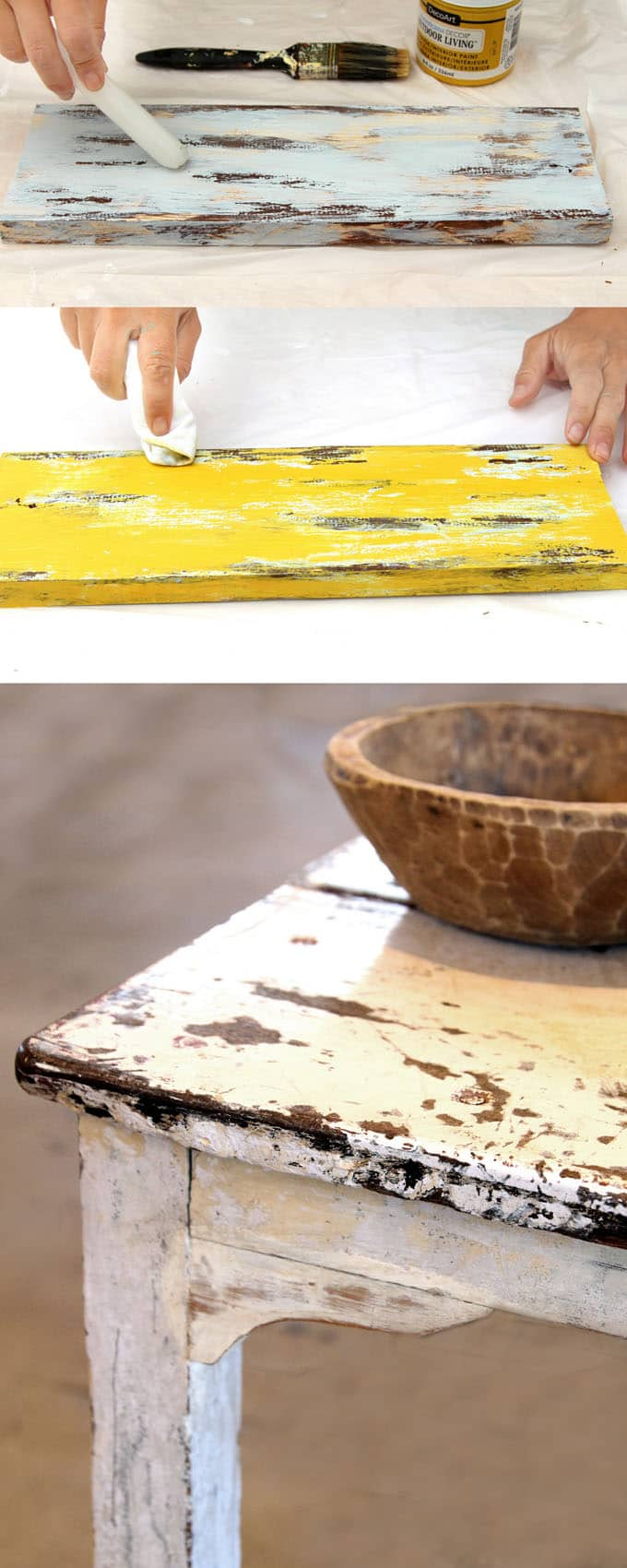 How To Distress Wood Amp Furniture 8 Easy Techniques