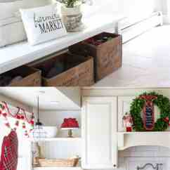 Decorating Kitchen Maple Countertops 100 Favorite Christmas Ideas For Every Room In Your Home Notice The Beautiful Details These Two Kitchens Wreaths On Windows And Cabinet Doors White Red Towels Small Piece Of