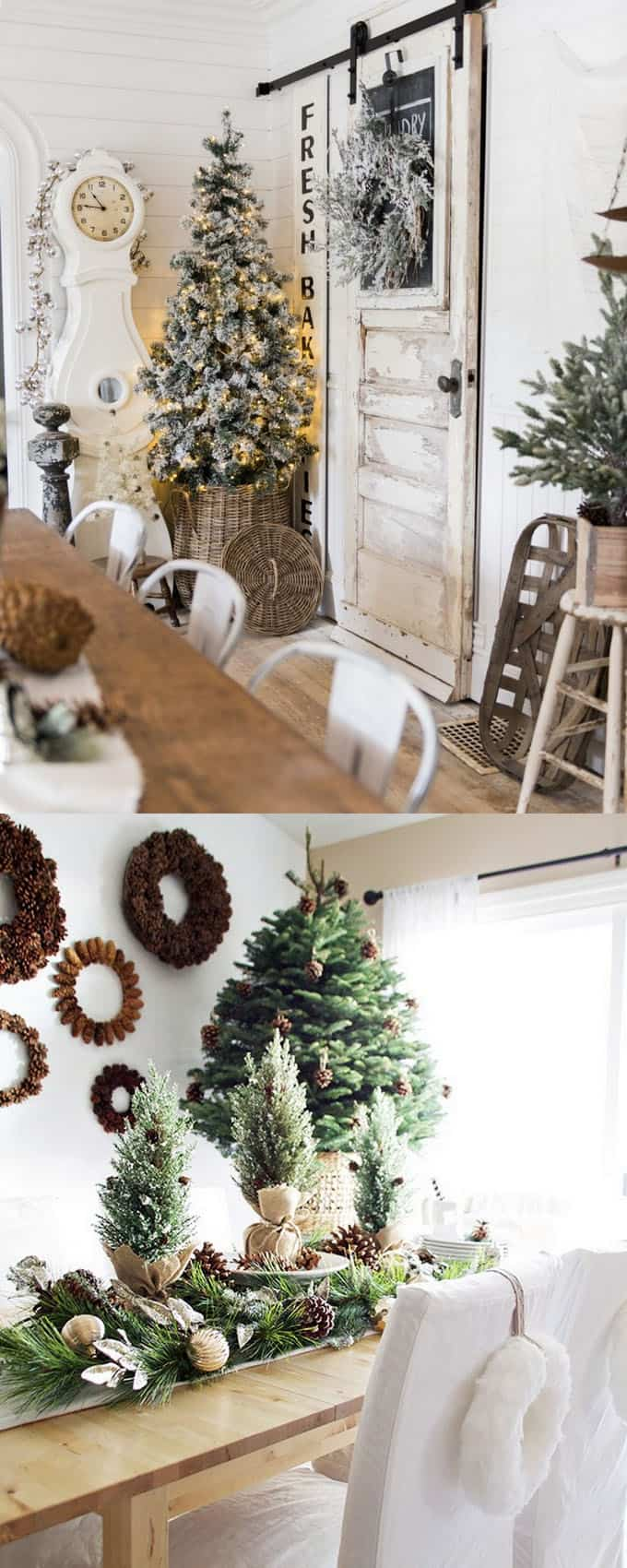 greenery above kitchen cabinets islands with chairs 100+ favorite christmas decorating ideas for every room in ...