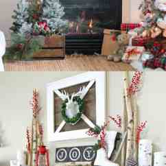Beautiful Living Rooms At Christmas Unique Room Tables 100 Favorite Decorating Ideas For Every In Your Home The Two Fireplace Mantels Are Decorated With Ojects That Unmistakably Wreaths Center Flanked By Irch Logs
