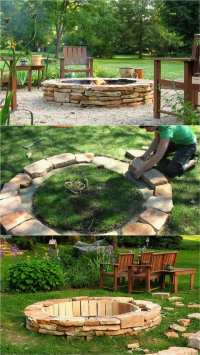 Easy Homemade Fire Pit  Review Home Decor