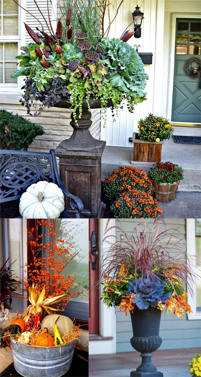 Outdoor Fall Decorating Images  Oh Decor Curtain