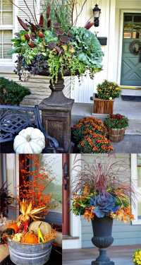 22 Beautiful Fall Planters for Easy Outdoor Fall ...