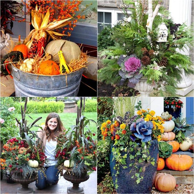 DIY Fall & Thanksgiving Decorations Planter {So Easy!}