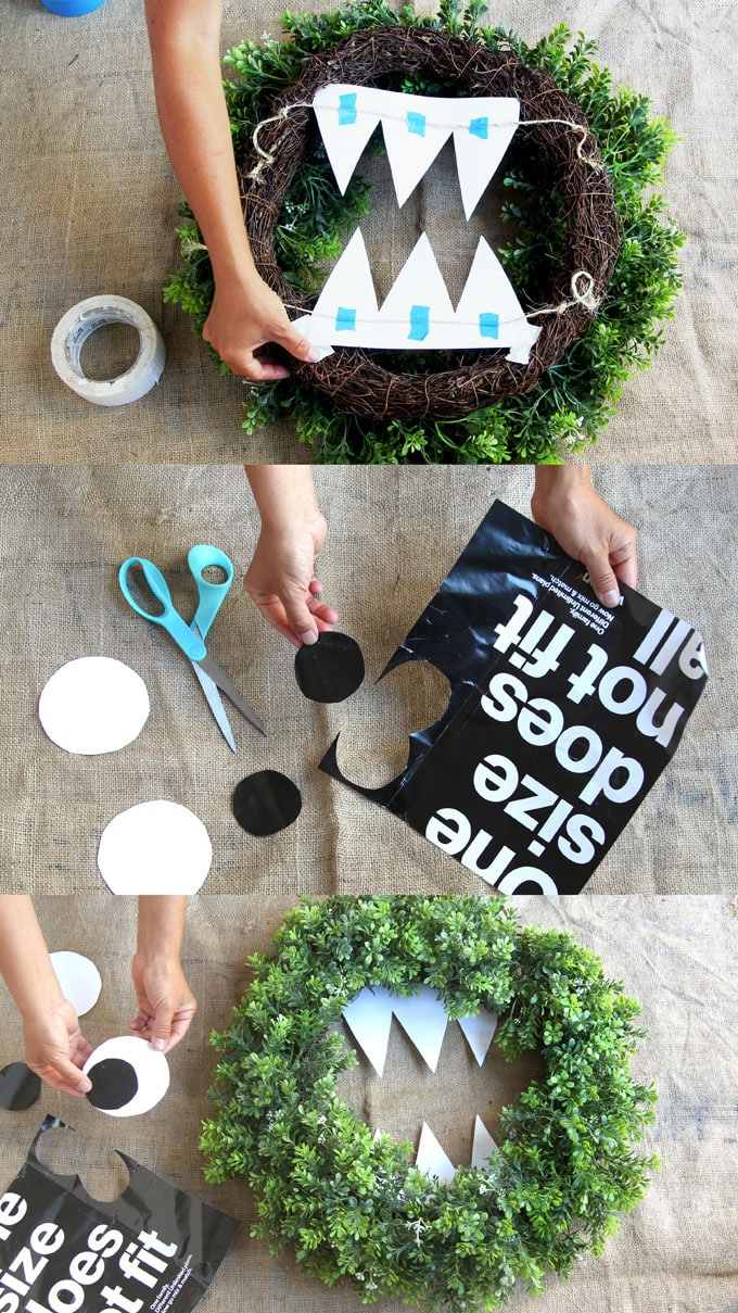Now Let's Make Our Diy Cookie Monster Halloween Wreath!