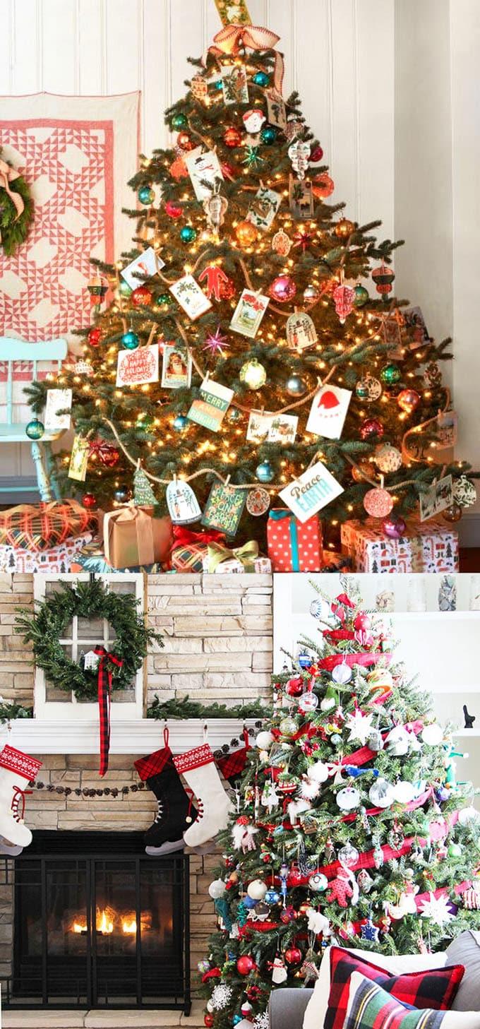 christmas tree decorating ideas elegant decorations how to decorate white red ribbon tutorials apieceofrainbow 15 - 42 Gorgeous Christmas Tree Decorating Ideas { & Best Tutorials!}