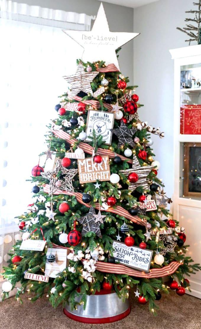 christmas tree decorating ideas elegant decorations how to decorate white red ribbon tutorials apieceofrainbow 16 - 42 Gorgeous Christmas Tree Decorating Ideas { & Best Tutorials!}