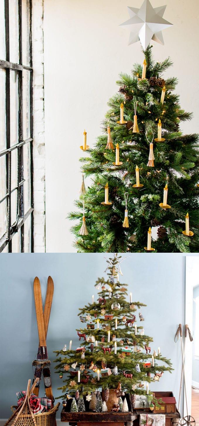 christmas tree decorating ideas elegant decorations how to decorate white red ribbon tutorials apieceofrainbow 19 - 42 Gorgeous Christmas Tree Decorating Ideas { & Best Tutorials!}