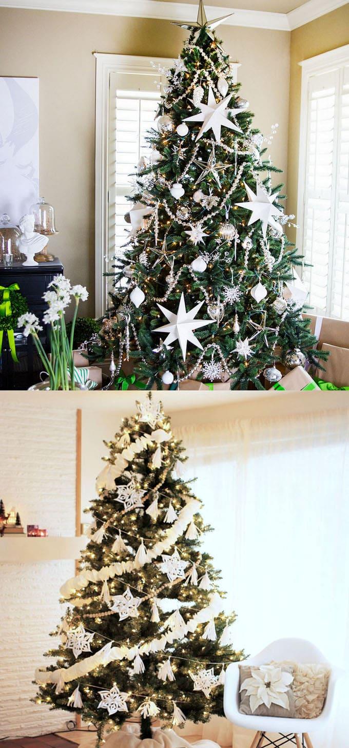christmas tree decorating ideas elegant decorations how to decorate white red ribbon tutorials apieceofrainbow 20 - 42 Gorgeous Christmas Tree Decorating Ideas { & Best Tutorials!}
