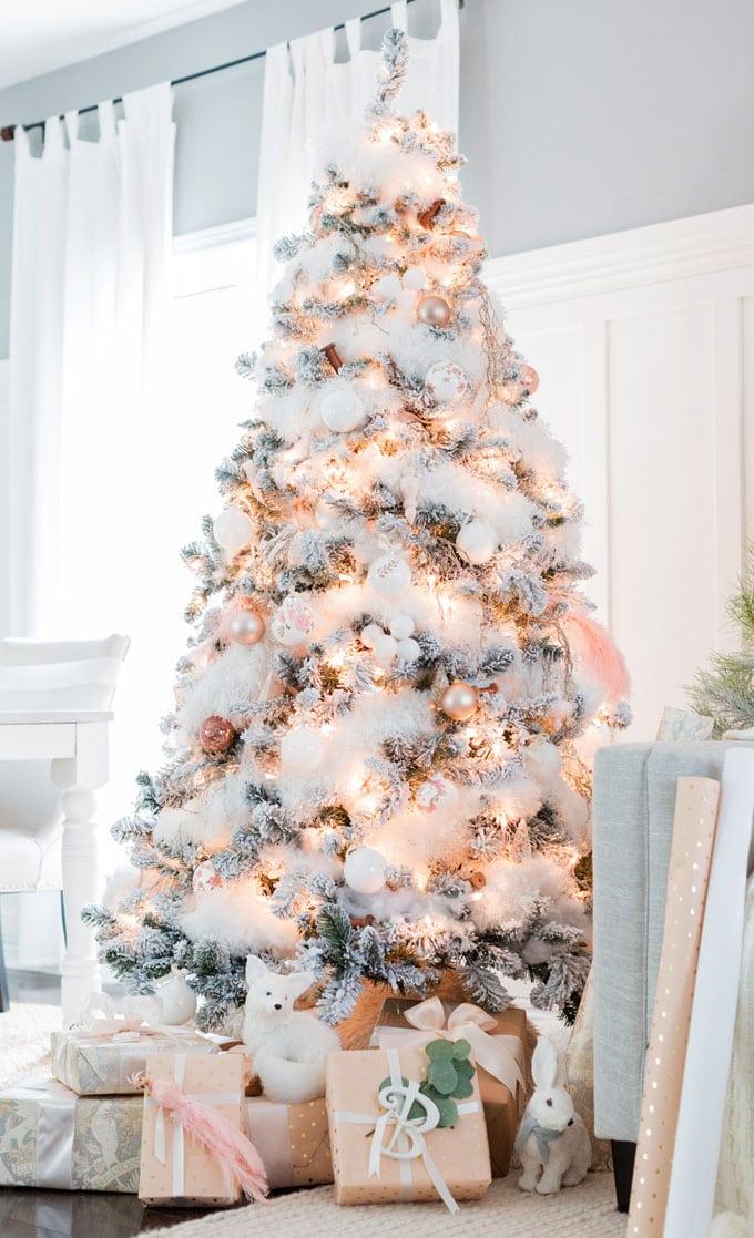 christmas tree decorating ideas elegant decorations how to decorate white red ribbon tutorials apieceofrainbow 23 - 42 Gorgeous Christmas Tree Decorating Ideas { & Best Tutorials!}