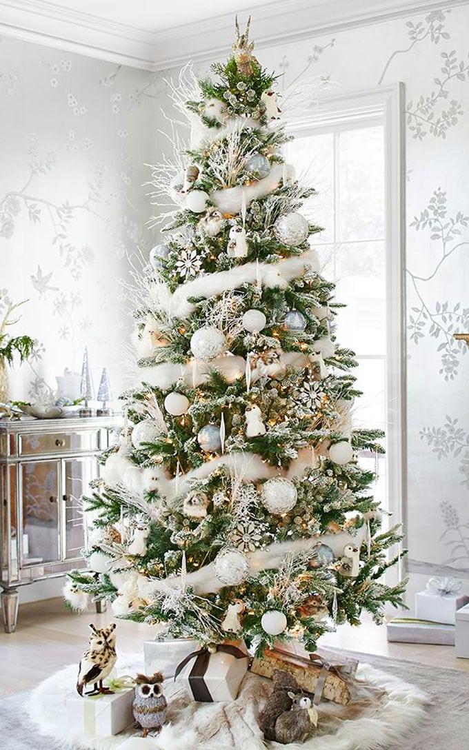 christmas tree decorating ideas elegant decorations how to decorate white red ribbon tutorials apieceofrainbow 4 - 42 Gorgeous Christmas Tree Decorating Ideas { & Best Tutorials!}