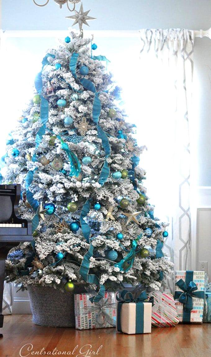 christmas tree decorating ideas elegant decorations how to decorate white red ribbon tutorials apieceofrainbow 5b - 42 Gorgeous Christmas Tree Decorating Ideas { & Best Tutorials!}