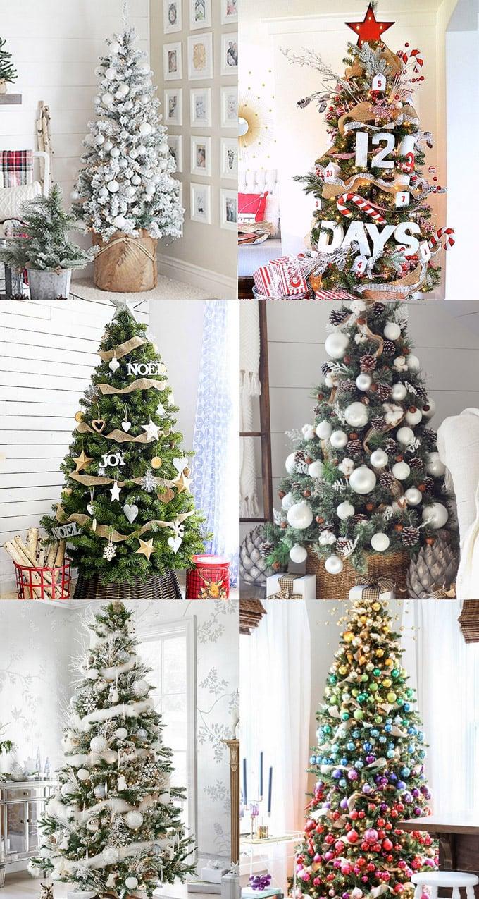 christmas tree decorating ideas elegant decorations how to decorate white red ribbon tutorials apieceofrainbow 5j - 42 Gorgeous Christmas Tree Decorating Ideas { & Best Tutorials!}