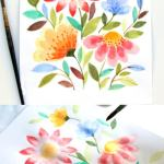 Paint Beautiful Watercolor Flowers In 15 Minutes A Piece Of Rainbow