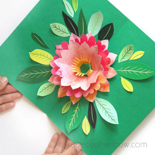 Make A Birthday Card With Pop Up Watercolor Flower Free Designs A Piece Of Rainbow