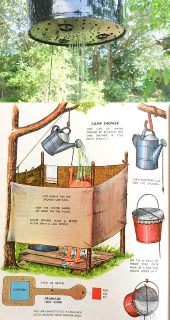 easy diy outdoor shower ideas