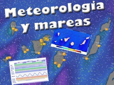 Mapas de previsión meteorológica detallada, tabla de mareas, viento, temperatura del agua... para las Islas Canarias.