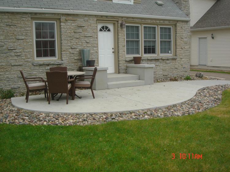Concrete Patios  A Pietig Concrete  Brick Paving