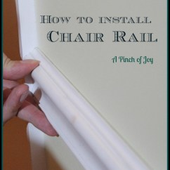 How To Install Chair Rail Design Uk A