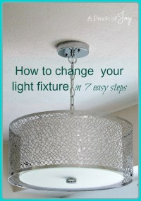 how to change a light fixture - how to change a light ...