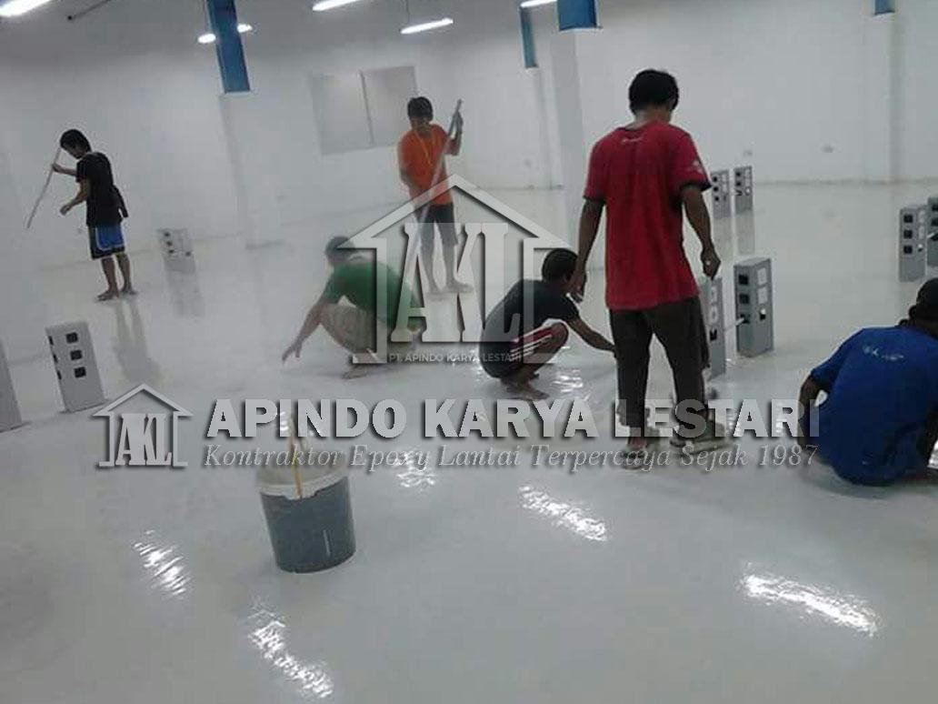 Proses pengerjaan epoxy lantai