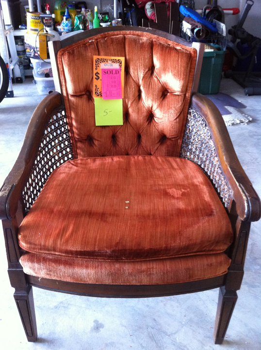 Vintage Cane chair - before