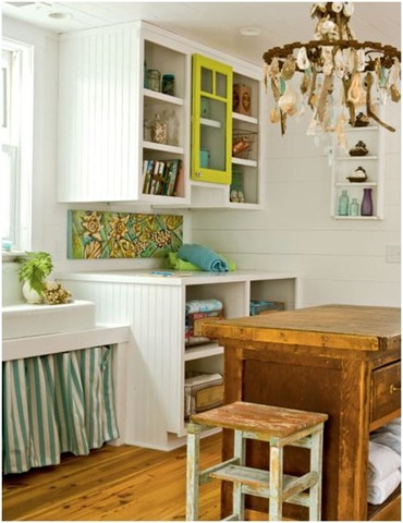 laundry room with folding table