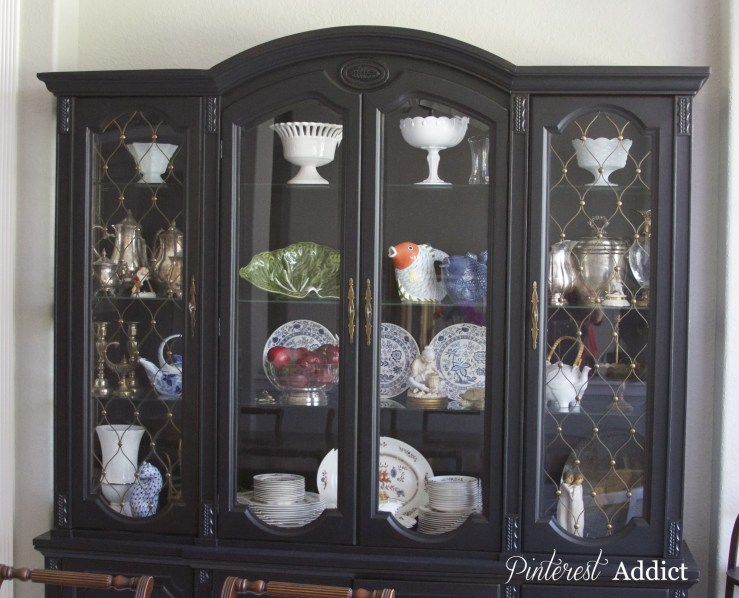 tricorn black china cabinet makeover