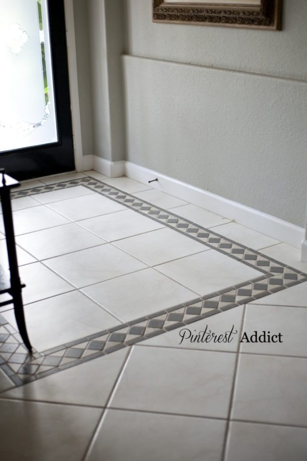 Painted floor tiles after one year. X-I-M Primer Bonder