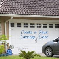 Carriage Garage Doors Diy creating a faux carriage garage door - pinterest addict