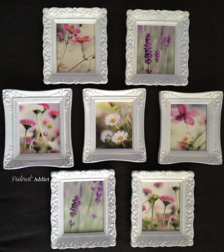 DIY Art - Mini-Frames - after some spray paint and new Ikea prints