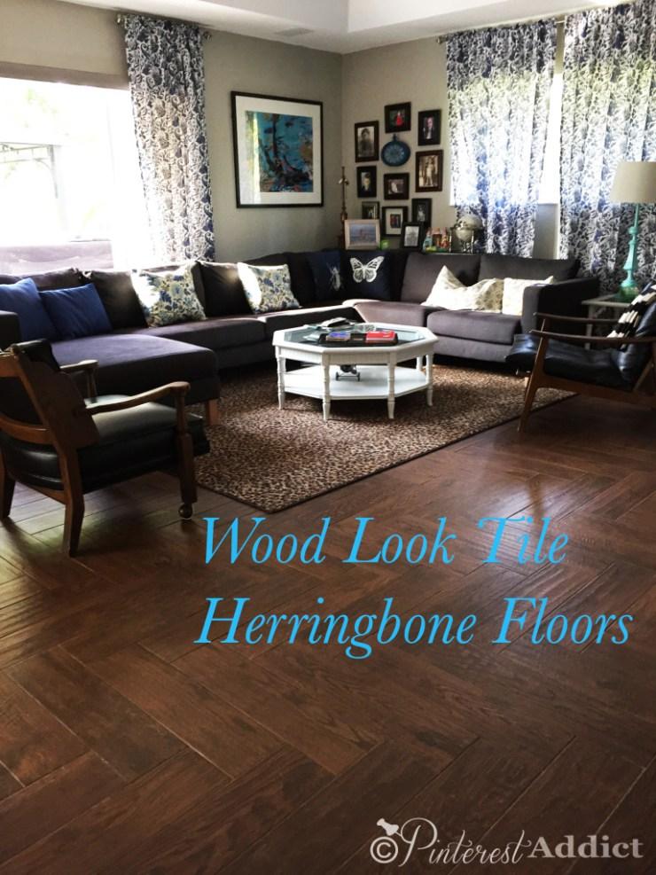 Wood Look Tile Herringbone Floors