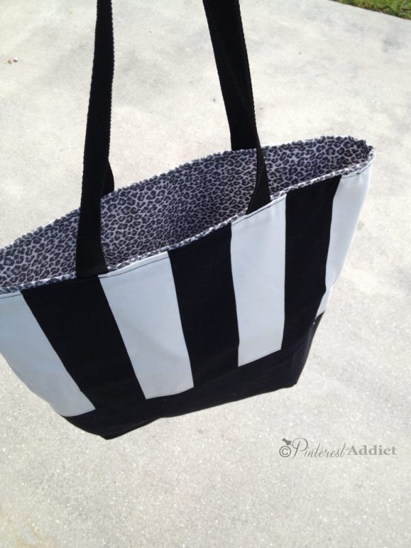 DIY handbag black and white