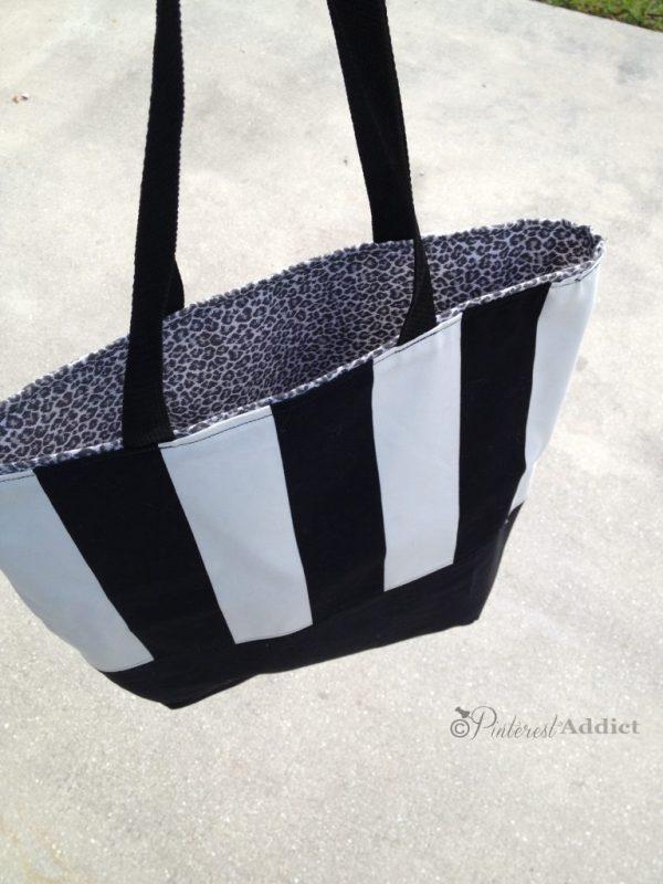 DIY handbag black and white