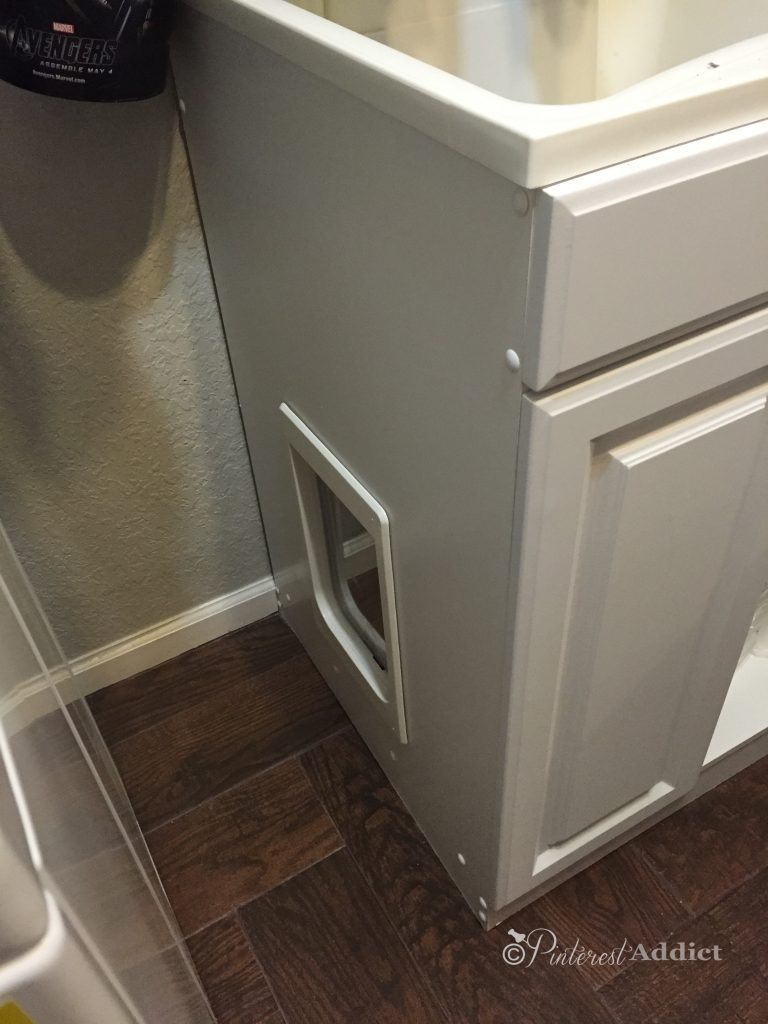 Pins I've Tried - litter box under sink cabinet