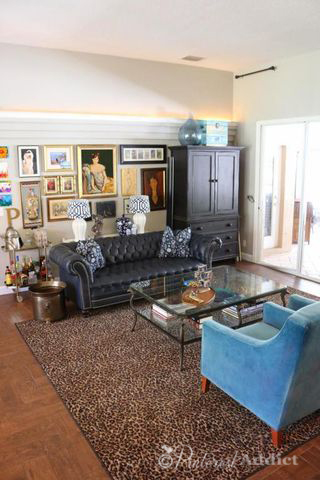 Living room - eclectic mix of old and new - and art