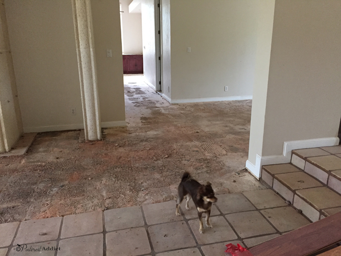 We removed every inch of the whitewashed saltillo tile.