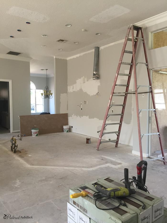 kitchen demolished no floors