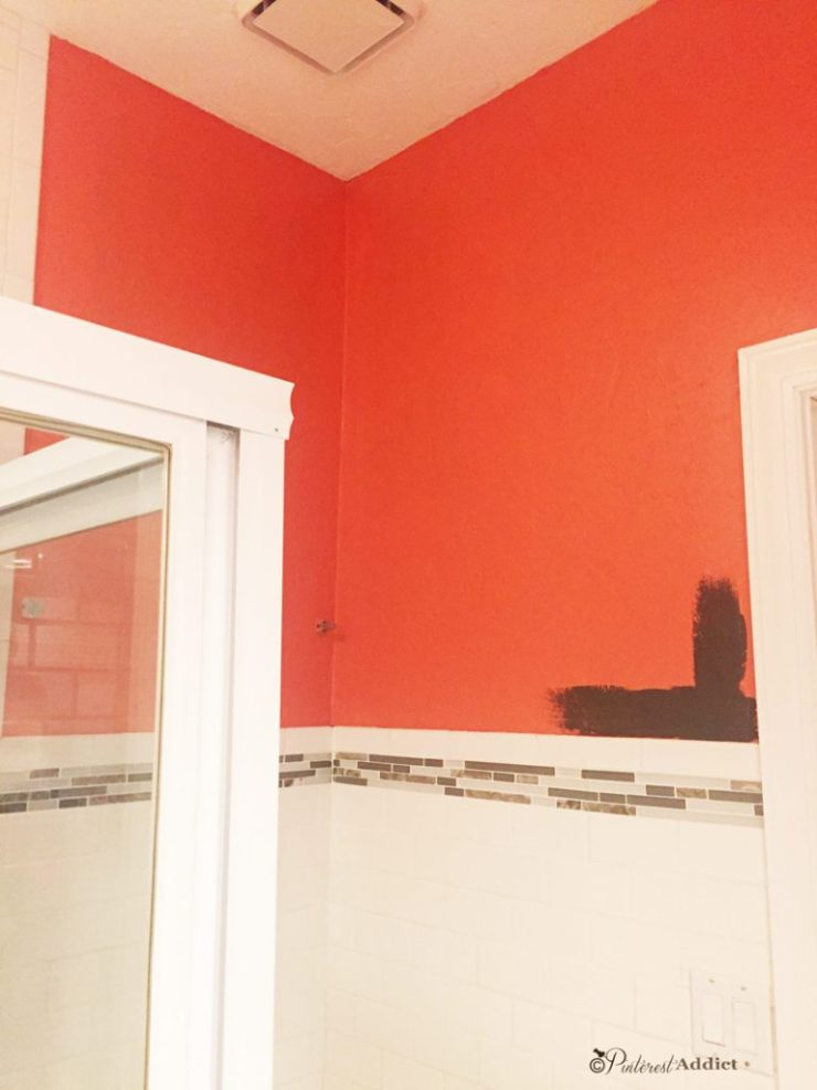 Coral Reef - Sherwin Williams - bathroom - Why You Shouldn't Pick a Paint Color from Pinterest
