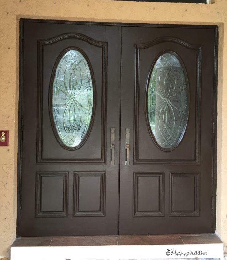 Black Bean Sherwin Williams Front door - painting the front door
