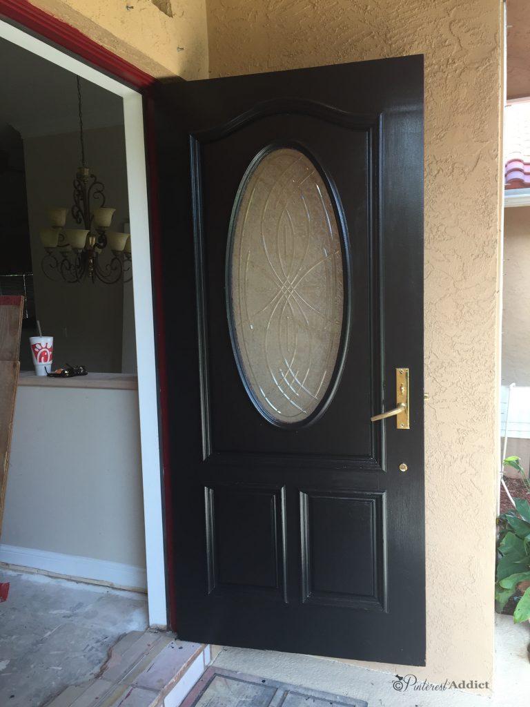 inside front door black gloss