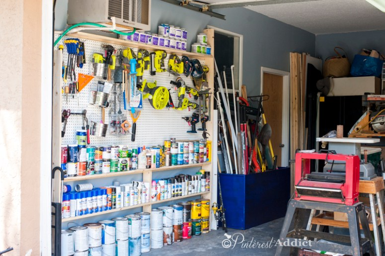 Old File Cabinet - painted and used for tool storage - Good Housekeeping Spring Cleaning Challenge - Garage Makeover